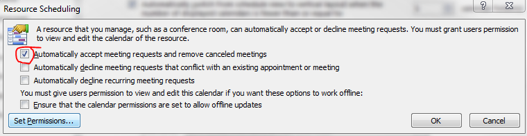 Automatically accepting meeting request from Microsoft Outlook 2010 (4/4)