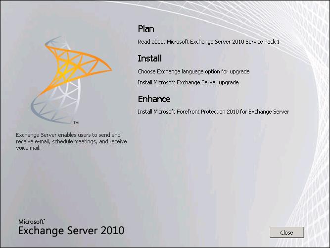 Exchange server 2010 - SP1 installation step by step (4/6)